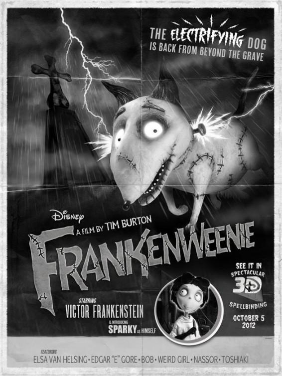 Cinéfilos con Z :: Blog de cine :: Frankenweenie, película animación Tim Burton